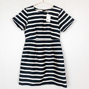 H&M Striped Black White Short Sleeve Dress NWT 8
